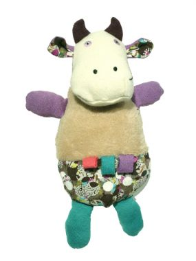 Bébé vache, doudou made in France