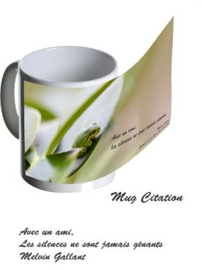 Mug grenouille citation